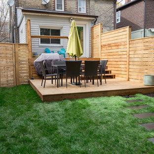 Idee per una terrazza tradizionale dietro casa con nessuna copertura