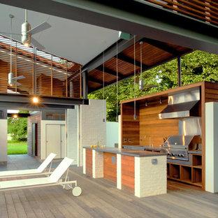 Esempio di una terrazza moderna