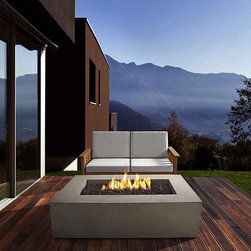 Real Flame - Real Flame Glacier Grey Baltic Rectangle LP Fire Table - Enjoy the outdoors this season around a fire with consistent electronic ignition and modern stylings. Tinted fiber concrete and heavy gauge steel are durable while the glacier grey finish is perfect for subtle style.