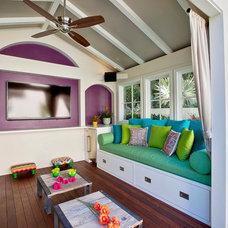 Contemporary Deck by Garden Of Eva Landscape Design Group