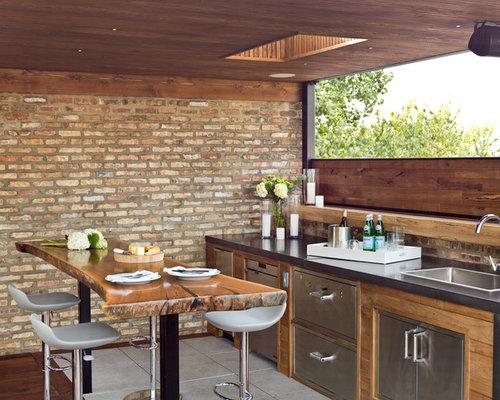 Outdoor Küche Aus Usa : Überdachte dachterrasse usa ideen design bilder houzz