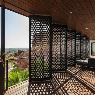 Foto de terraza minimalista en anexo de casas