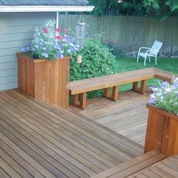 Redmond custom clear cedar deck