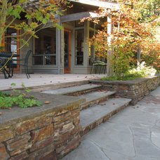 Traditional Deck by Kate Martin Design