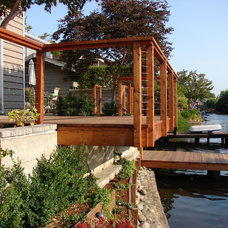 Contemporary Deck by Sarah Ray Landscape Design