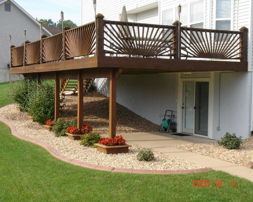 Landscaping Around Tall Deck : Under the deck landscaping ideas pictures remodel and decor
