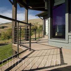 Contemporary Deck by SN Custom Railing, Inc