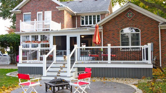 Riverfront deck and porch