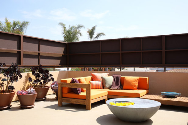 Inspirational Modern Deck by dRichards Interiors