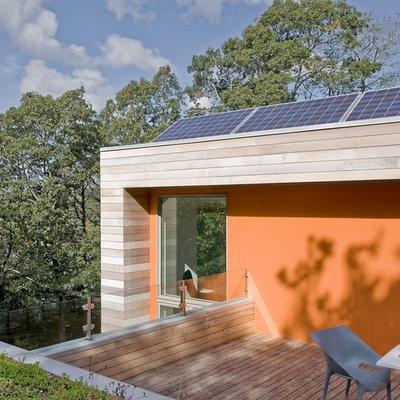 Deck - modern deck idea in Boston with no cover