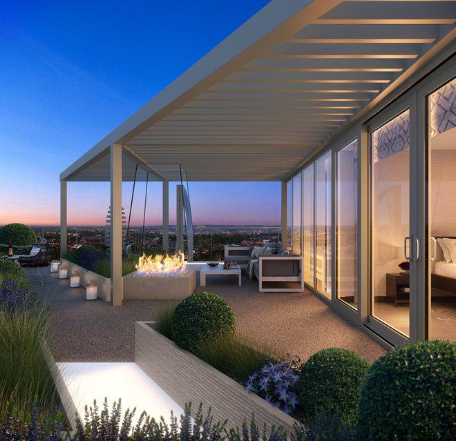 Contemporary Deck by Aralia: Innovation in Landscape Design