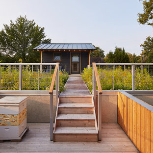 Example of a small danish rooftop deck design in Minneapolis
