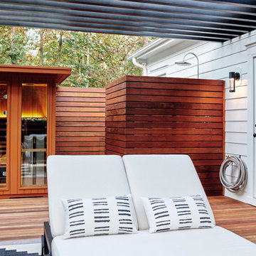 Rooftop Spa Deck with shower and sauna off primary bedroom