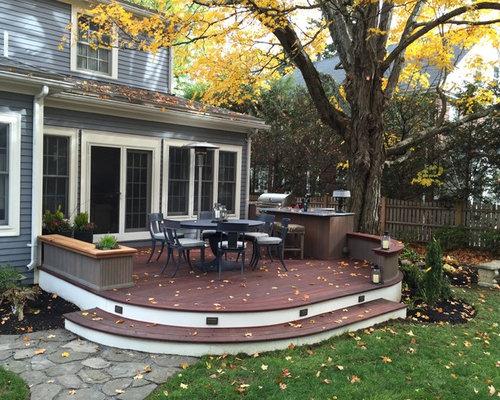 mediterrane terrasse boston - ideen für die terrassengestaltung, Garten und Bauten