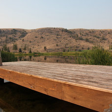 Rustic Deck by RLake Construction