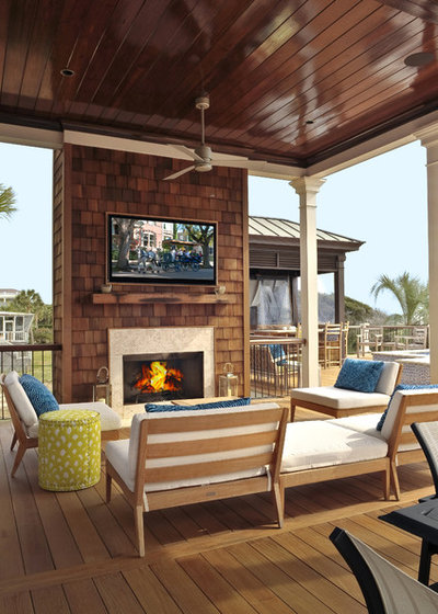 Beach Style Deck by William Quarles Photography