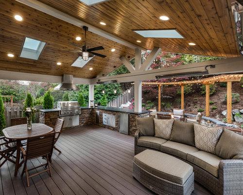 Outdoor Küche Aus Usa : Überdachte terrasse usa ideen design bilder houzz