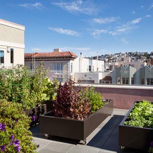 Foto di una terrazza design sul tetto