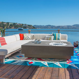 Dock - eclectic backyard dock idea in San Francisco with no cover