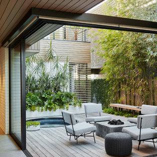 Foto di una terrazza minimal