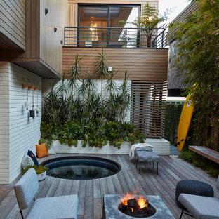 Ispirazione per una terrazza minimal con nessuna copertura