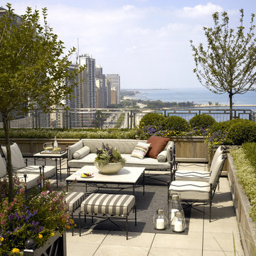 Scott Byron & Company Design Chicago Rooftop Oasis