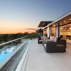 Contemporary Deck by Western Window Systems
