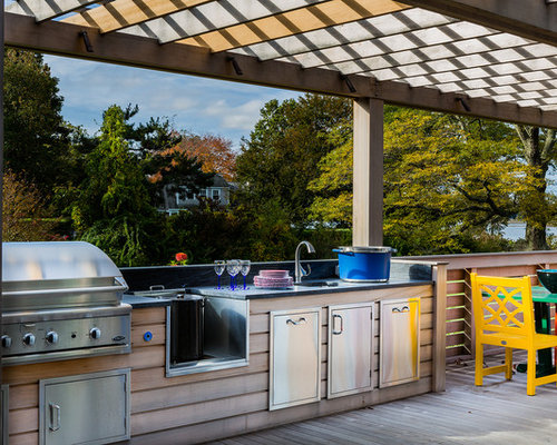 Covered Outdoor Kitchen Houzz