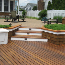 Beach Style Deck by Cross River Design, Inc.