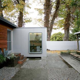 Ispirazione per una terrazza industriale con nessuna copertura