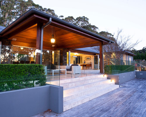 inspiration for a porch remodel in sydney with decking