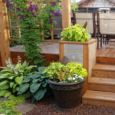 Traditional Deck by Ingrid Thiessen Landscape Architect