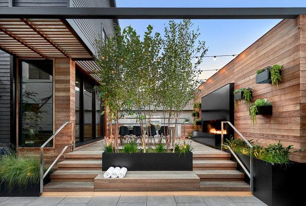 Contemporáneo Terraza y balcón by dSPACE Studio Ltd, AIA