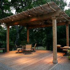Eclectic Outdoor Lighting by Southwest Fence & Deck