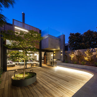 This is an example of a contemporary deck in Melbourne.