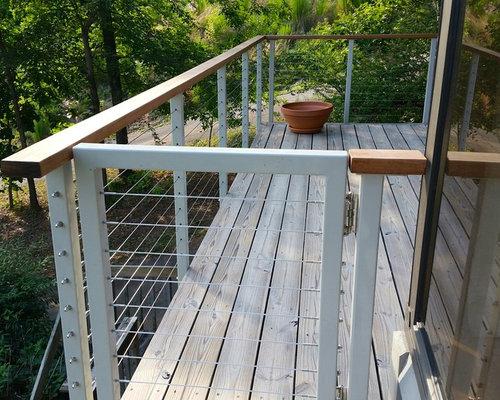 Diy cable railing kits for Diy rope railing