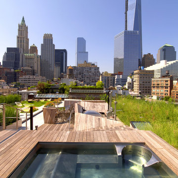 Stainless Steel Rooftop Hot Tub