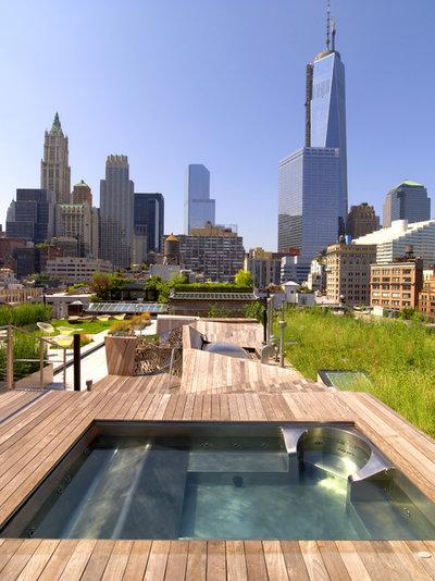 Contemporary Terrace by Diamond Spas