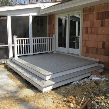 Stamford CT- Trex deck and rail.