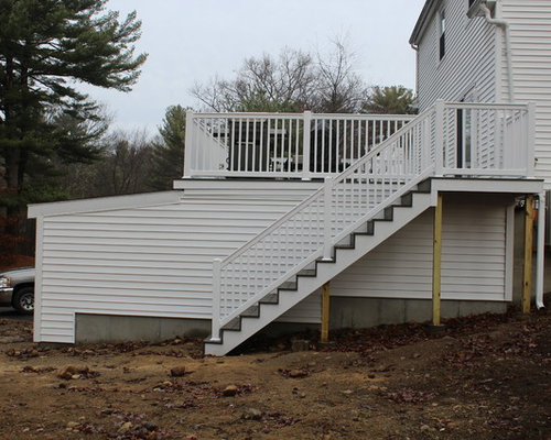 Flat Roof Garage With Deck Above