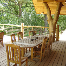 Traditional Deck by JDA Design Architects Inc
