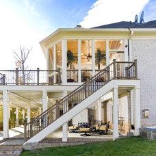 Mediterranean Deck by Michael Nash Design, Build & Homes