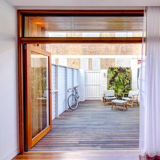 Ispirazione per una terrazza minimal sul tetto e sul tetto
