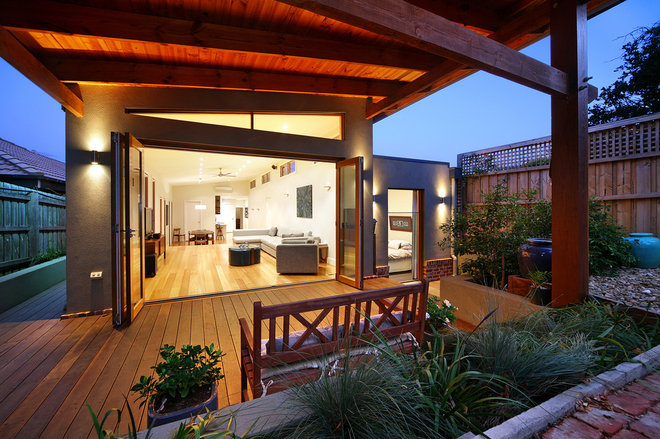 Contemporary Deck by Brent Builders