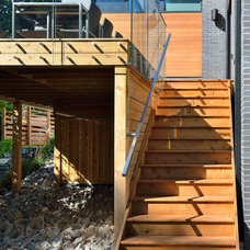 Contemporary Deck by Upside  Development