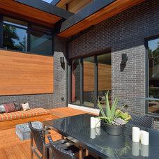 Contemporary Deck by Upside  Development