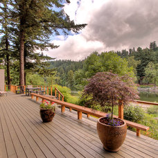 Contemporary Deck by Terry Iverson Photography