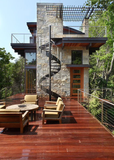 Contemporary Deck by Scott Christopher Homes