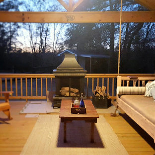 Design ideas for a large traditional backyard deck in Other.