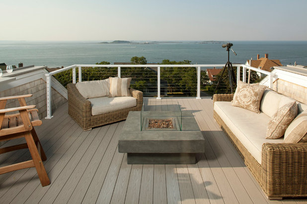 Beach Style Deck by ARCHIA HOMES